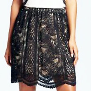 Xhilaration Black Lace Skirt - Medium